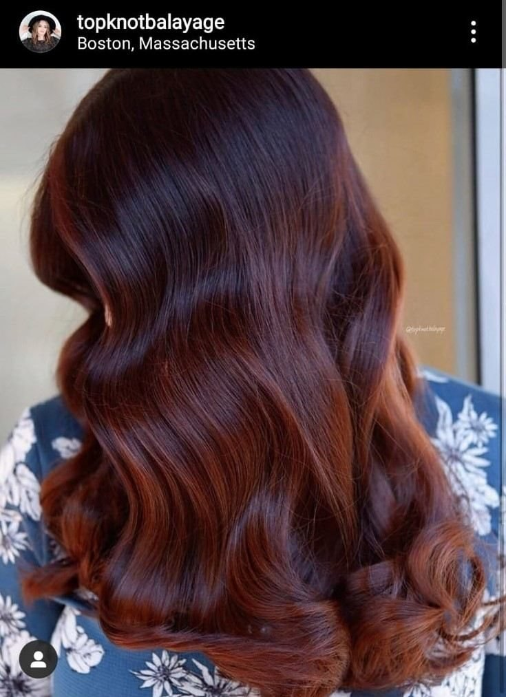 Chilli chocolate hair
