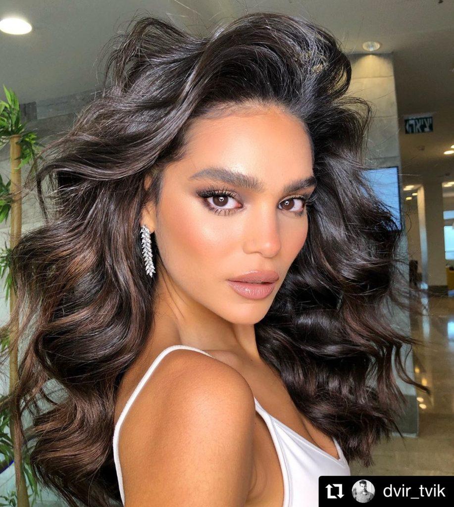 Rich brown curls